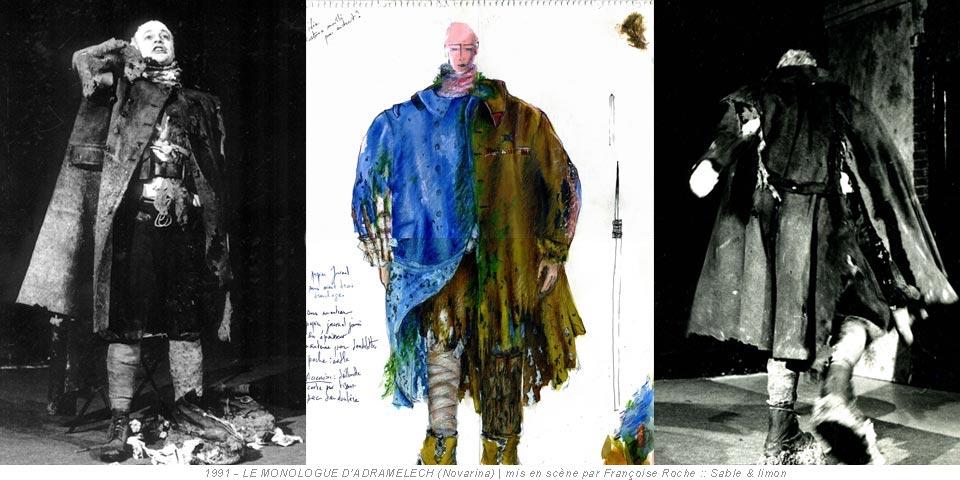 1991 - LE MONOLOGUE D'ADRAMELECH (Novarina) | mis en scène par Françoise Roche